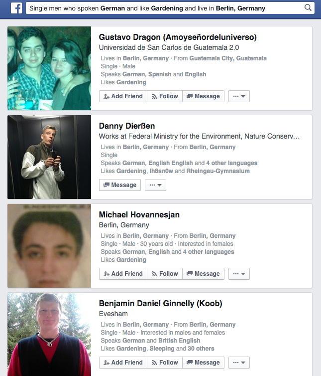 Facebook GRaph Search Käthe Fischer Berlin