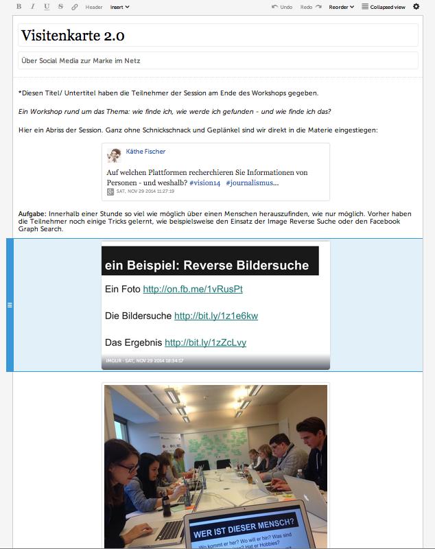 Storify Tipps Käthe Fischer Berlin